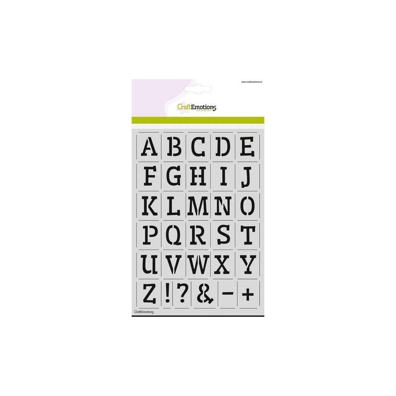 Alfabet CraftEmotions A5