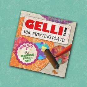 """Gel Printing Plate Round 4"""""""