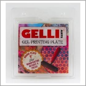 """Gel Printing Plate Round 6"""""""