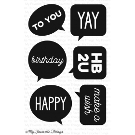 Birthday Speech Bubbles