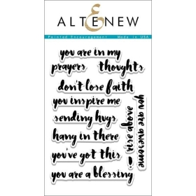 Painted Encouragement Clear Stamps