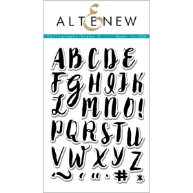 Calligraphy Alpha Uppercase Clear Stamps