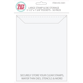 "Large Stamp & Die Storage Pockets 5 1/2"" x 7 3/8"" (50 stuks)"