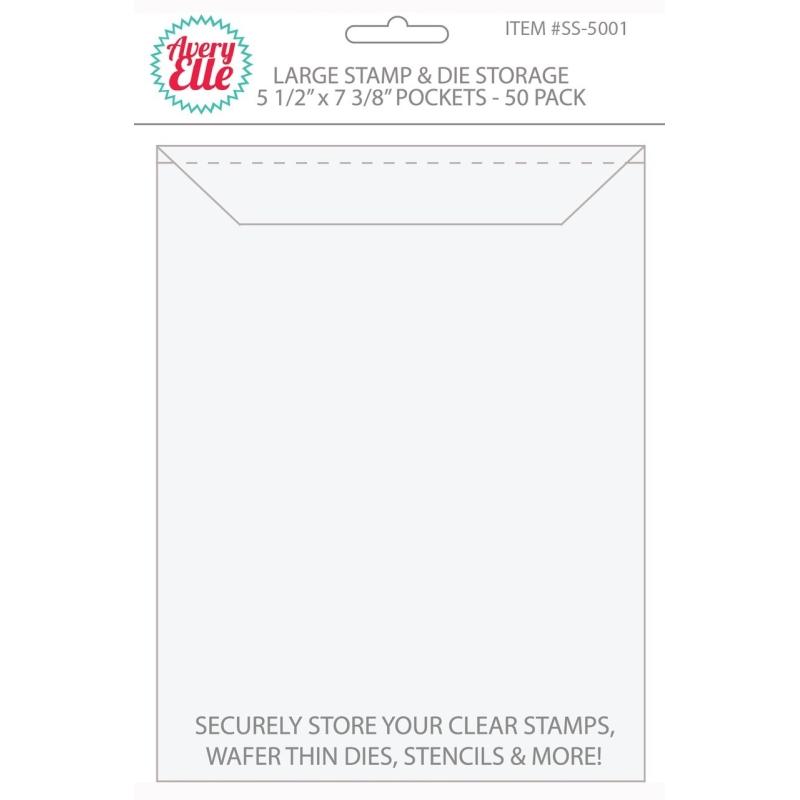 "Large Stamp & Die Storage Pockets 5 1/2"" x 7 3/8"" (50 stuks)"