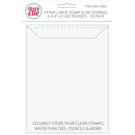 "Extra Large Stamp & Die Storage Pockets 6 3/4"" x 9 3/8"" (50 stuks)"