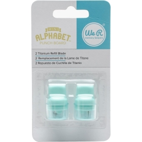 Mini Alphabet Punch Board Refill Blade (2 stuks)