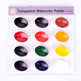 Trnsparent Watercolor Palette 12 Colours