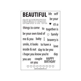 Beautiful Words Clearstamps