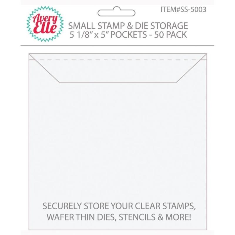 """Small Stamp & Die Storage Pockets 5 x 5 """" (50 stuks)"""
