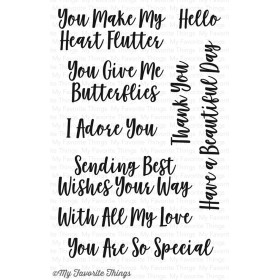 You Give Me Butterflies Stamps