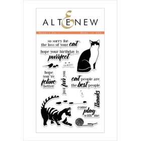 Modern Cats Clear Stamp