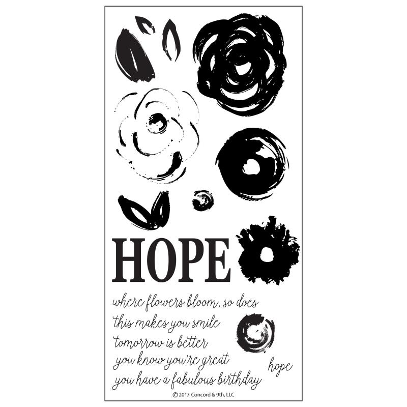 Hope Clearstamp ( Let op! Pre-order, leverbaar rond 16 juni a.s. )