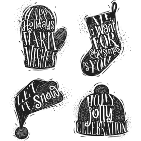 Carved Christmas 1 Cling Stamps