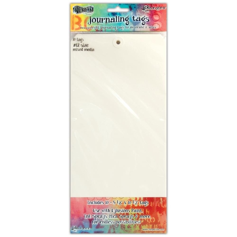 """Dylusions Journaling Tags 5 1/8 x 10 1/2"""" (10 stuks)"""