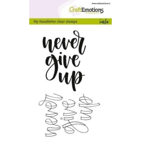 Never Give Up Clearstamps