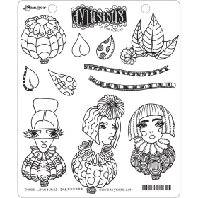 Three Little Maids Cling Stamps ( Pre-order, leverbaar rond 22 mei )