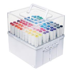 Expandable Marker Accordion Organizer White/Clear