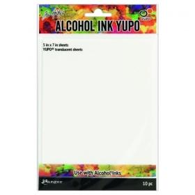 Alcohol Ink Translucent Yupo Paper 5x7inch 10 Vellen