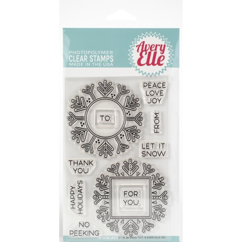 Snow Tags Stamps
