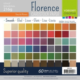 "Florence Cardstock Smooth 12x12"" x60 vel multipack"