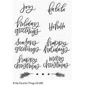 Hand-Lettered Holiday Greetings Stamps