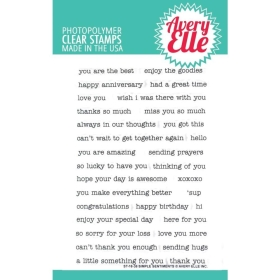 Simple Sentiments Clearstamp Set