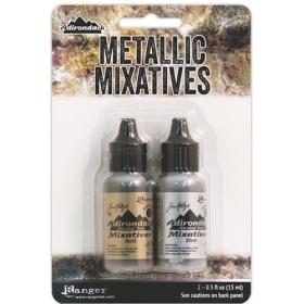 Gold, Silver Metallic Mixatives Set