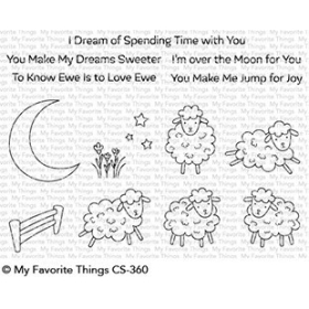 Over the Moon For Ewe Stamps