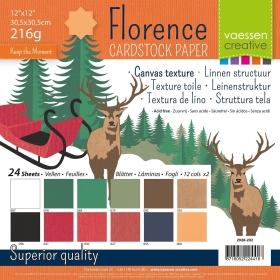 """Florence Cardstock 12x12"""" 216gram - 24 vel Multipack Christmas"""