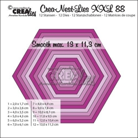 Crea-Nest-Lies XXL Stansen No. 88, Gladde Zeshoek