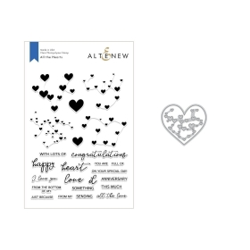All the Hearts Stamp & Die Bundle
