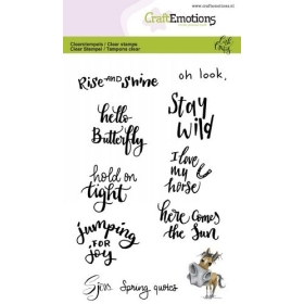 Sjors Spring Quotes (Eng) Clearstamps