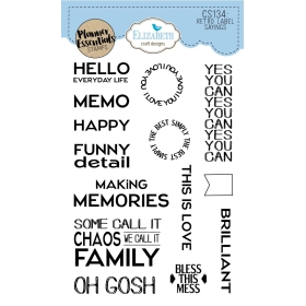 Retro Labels Sayings Clearstamps
