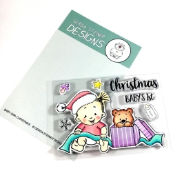 Baby Girl Christmas 3x4 Clear Stamp Set