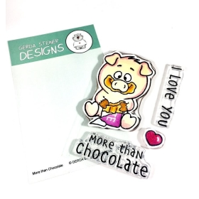 More Than Chocolate 3x4 Clear Stamp Set