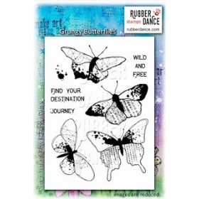 Grungy Butterflies Unmounted Stamps