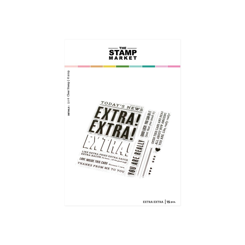 Extra Extra Stamp ( Leverbaar rond 15 mei )