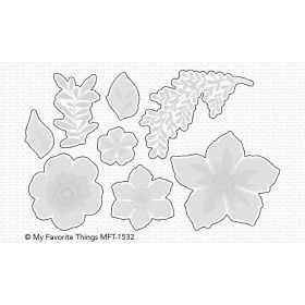 Tropical Flowers Stamps And Dies Set