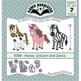 Mal 1094 - Horse, Unicorn And Zebra - Leverfbaar Tweede Helft Juli