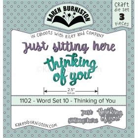 Mal 1102 - Word Set 10 - Thinking Of You - Leverbaar Tweede Helft Juli