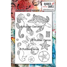 Textured Sea Creatures Unmounted Stamp ( Leverbaar 2e helft juli )