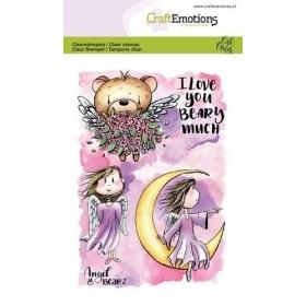 Angel & Bear 2 Carla Creaties Clearstempels