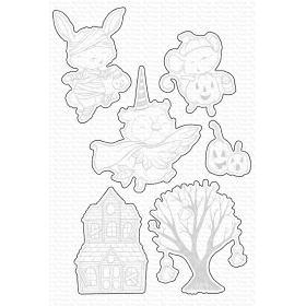 SY Spooktacular Friends Stamps And Dies Set