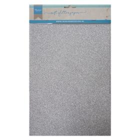CA3142 - Soft Glitter Paper A5 - Silver