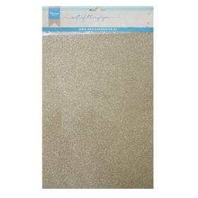 CA3144 - Soft Glitter Paper A5 - Platinum