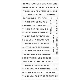 Bitty Thanks & Gratitude Clearstempels
