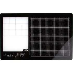 "Travel Glass Media Mat 10.25""X15.5"" Links Handig"