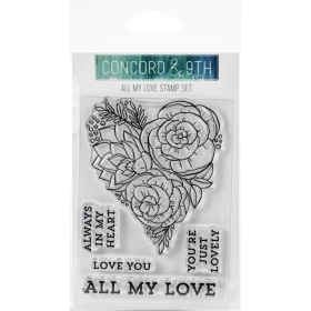All My Love Clear Stamps