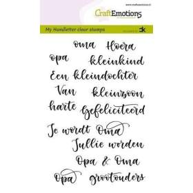 Handletter - Opa & Oma (NL) Carla Kamphuis Clear Stamps