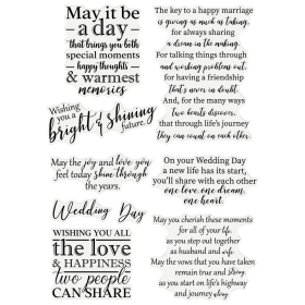 Wedding Wishes Clearstamps